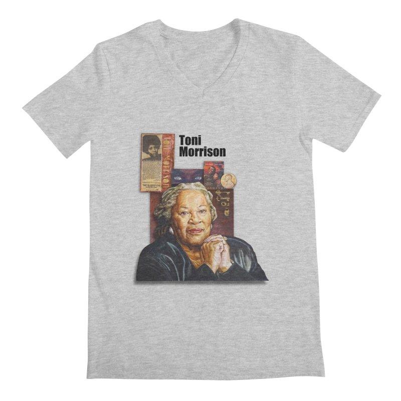 Toni Morrison Men's Regular V-Neck by Afro Triangle's