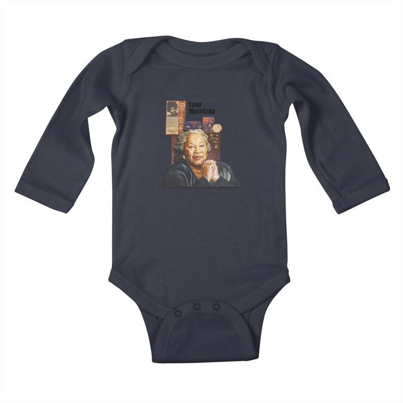 Toni Morrison Kids Baby Longsleeve Bodysuit by Afro Triangle's