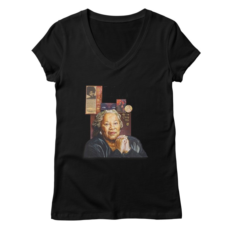 Toni Morrison Women's V-Neck by Afro Triangle's