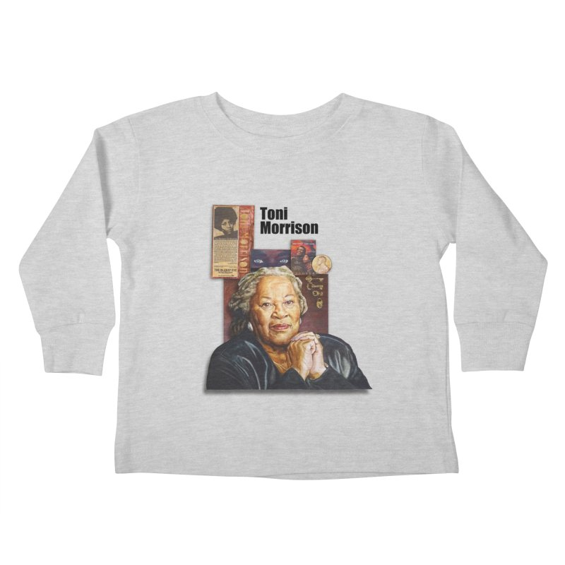Toni Morrison Kids Toddler Longsleeve T-Shirt by Afro Triangle's