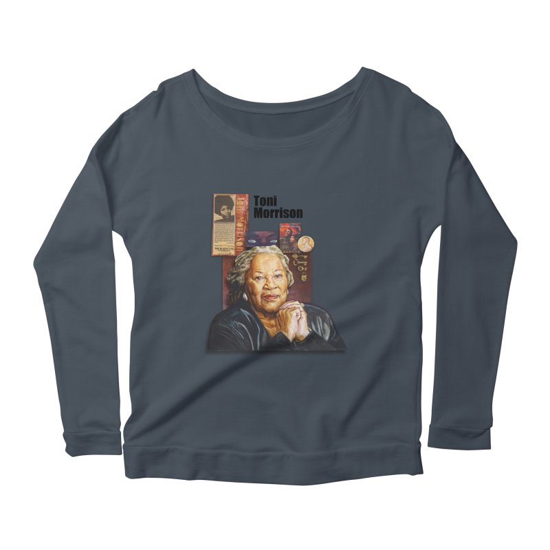 Toni Morrison Women's Scoop Neck Longsleeve T-Shirt by Afro Triangle's