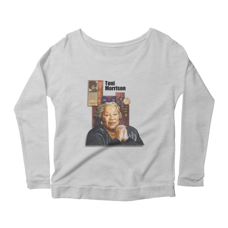 Toni Morrison Women's Scoop Neck Longsleeve T-Shirt by Afro Triangle's