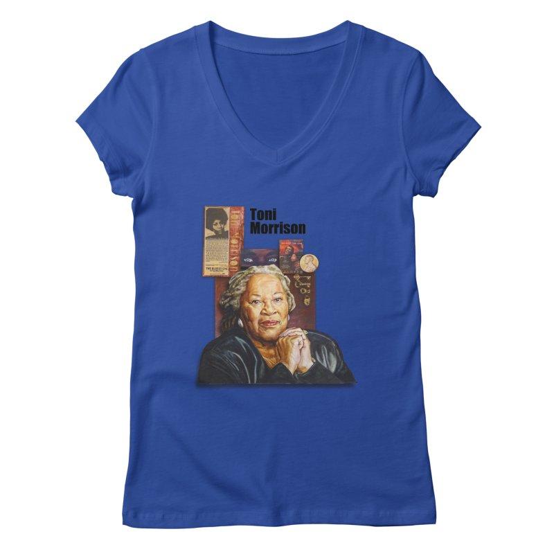Toni Morrison Women's Regular V-Neck by Afro Triangle's