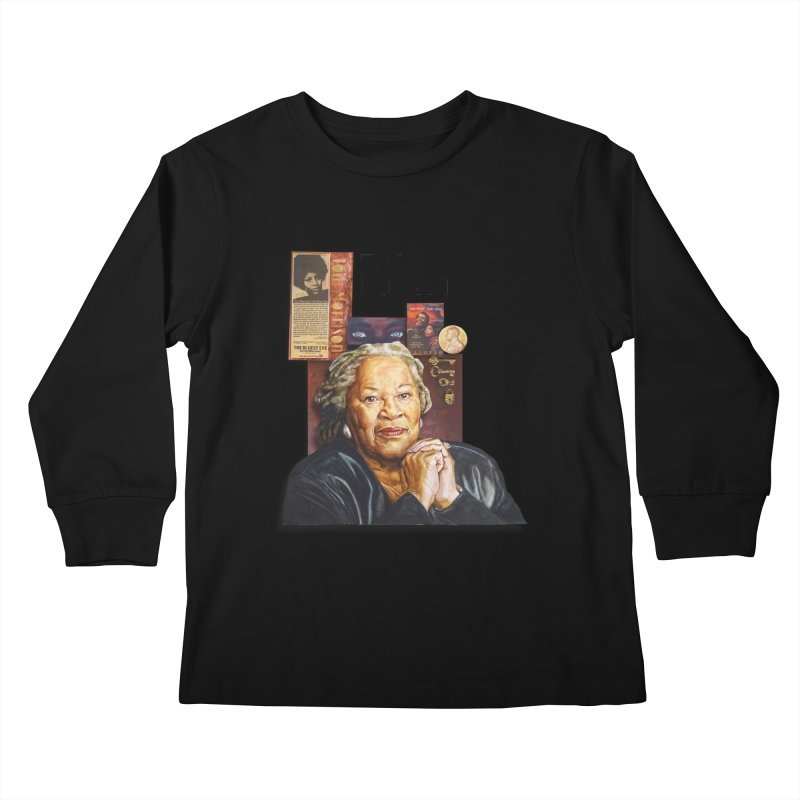 Toni Morrison Kids Longsleeve T-Shirt by Afro Triangle's