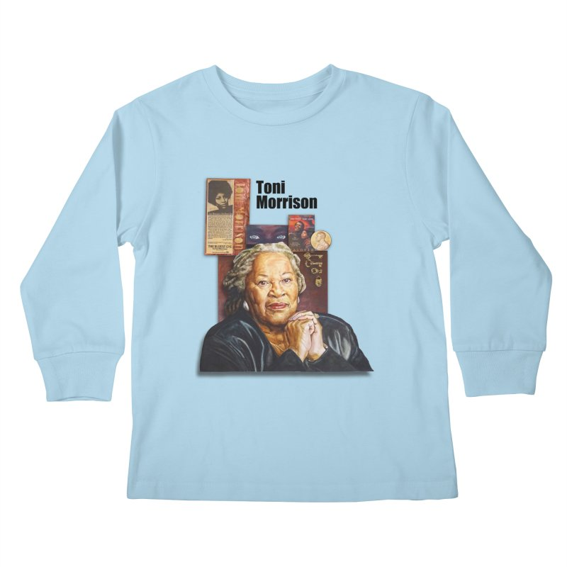 Toni Morrison Kids Longsleeve T-Shirt by Afro Triangle's