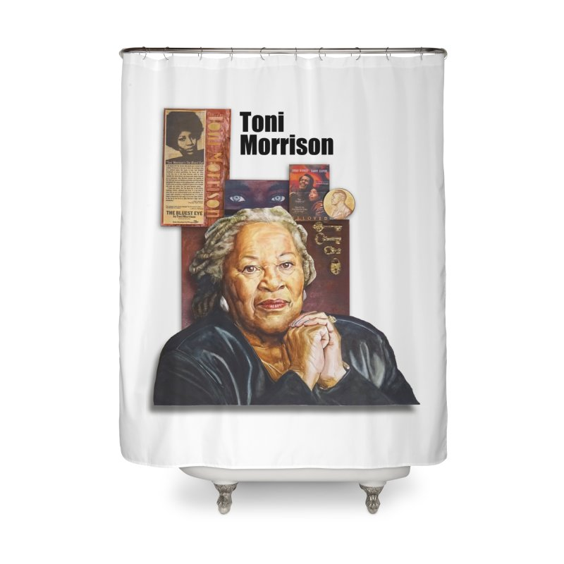 Toni Morrison Home Shower Curtain by Afro Triangle's