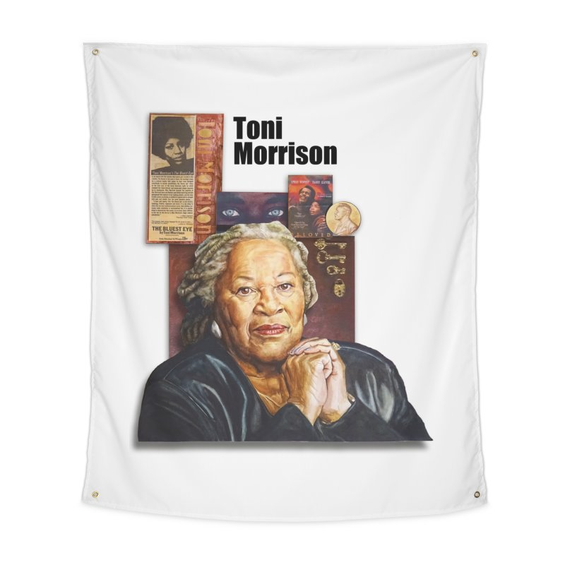 Toni Morrison Home Tapestry by Afro Triangle's