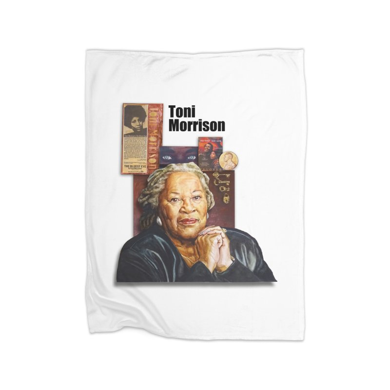Toni Morrison Home Fleece Blanket Blanket by Afro Triangle's