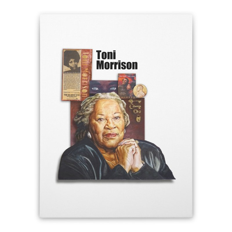 Toni Morrison Home Stretched Canvas by Afro Triangle's