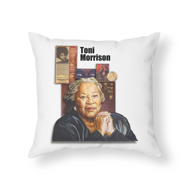 Toni Morrison Home Throw Pillow by Afro Triangle's