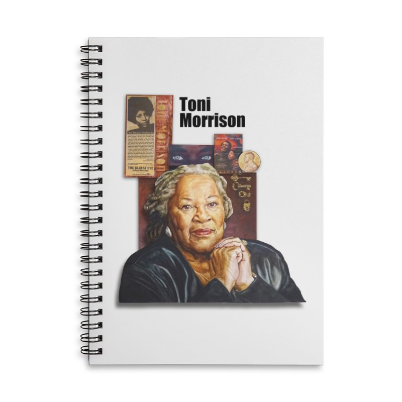 Toni Morrison Accessories Lined Spiral Notebook by Afro Triangle's