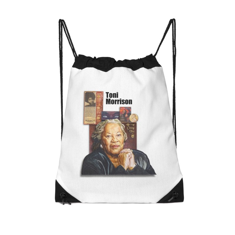 Toni Morrison Accessories Drawstring Bag Bag by Afro Triangle's