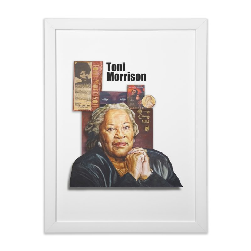 Toni Morrison Home Framed Fine Art Print by Afro Triangle's