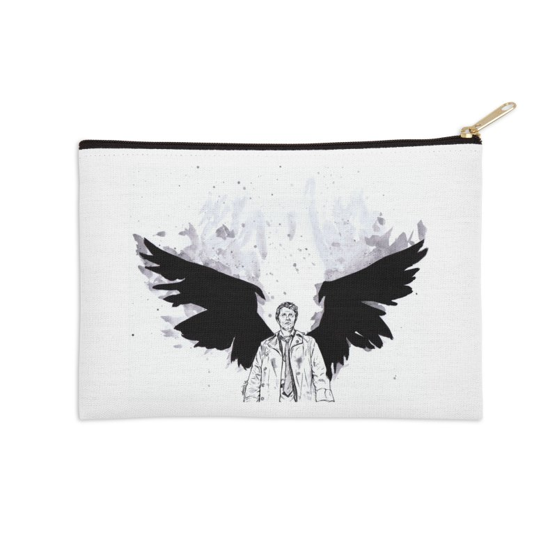 Castiel Wings Accessories Zip Pouch by Afro Triangle's