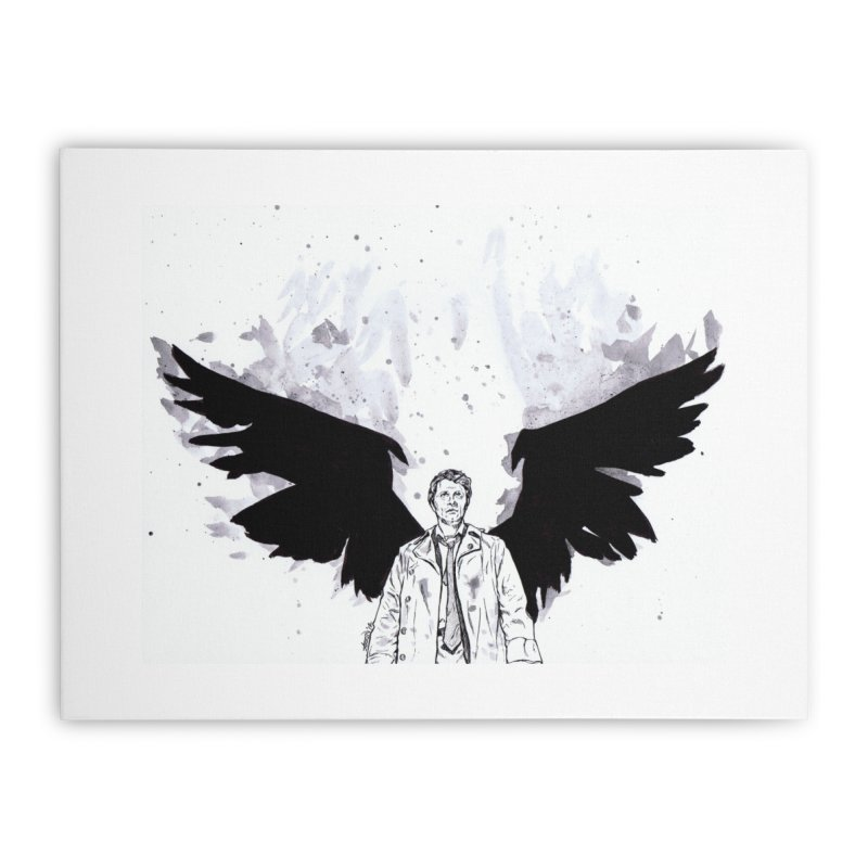 Castiel Wings Home Stretched Canvas by Afro Triangle's