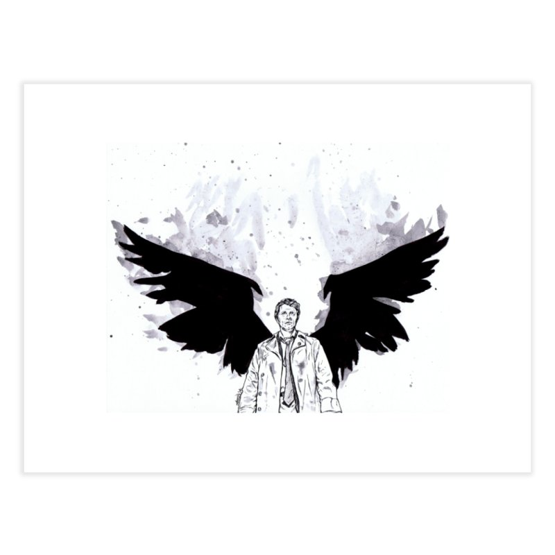 Castiel Wings Home Fine Art Print by Afro Triangle's