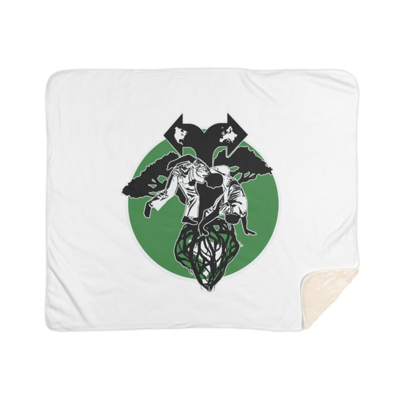 Capoeira Roots Home Sherpa Blanket Blanket by Afro Triangle's