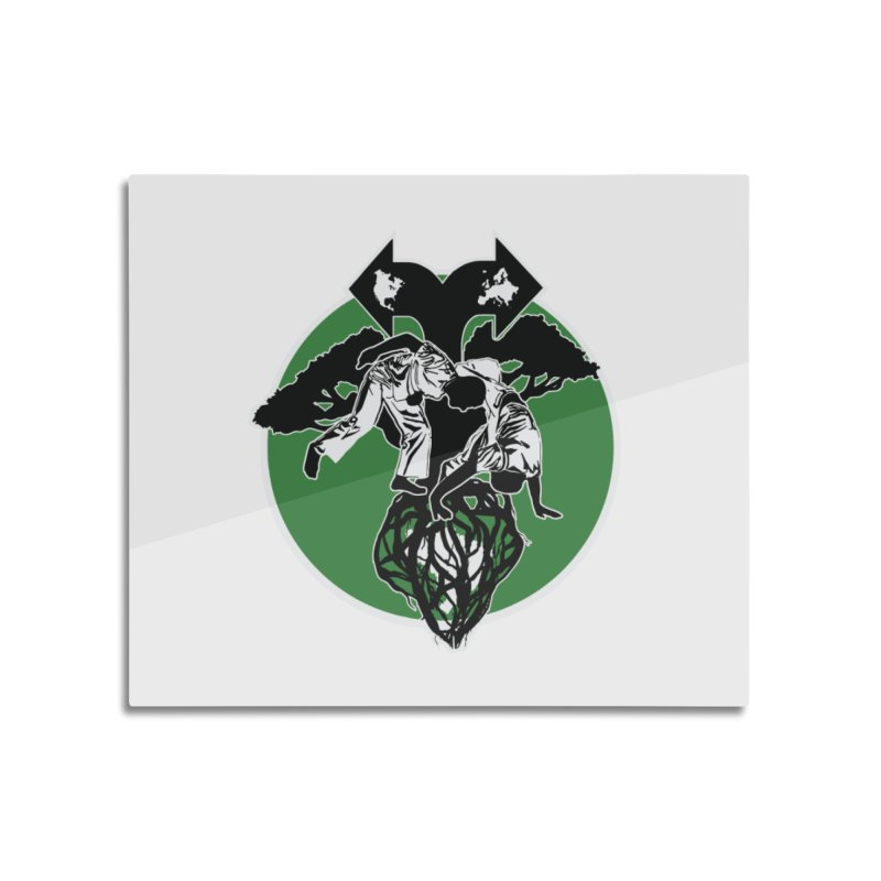 Capoeira Roots Home Mounted Aluminum Print by Afro Triangle's