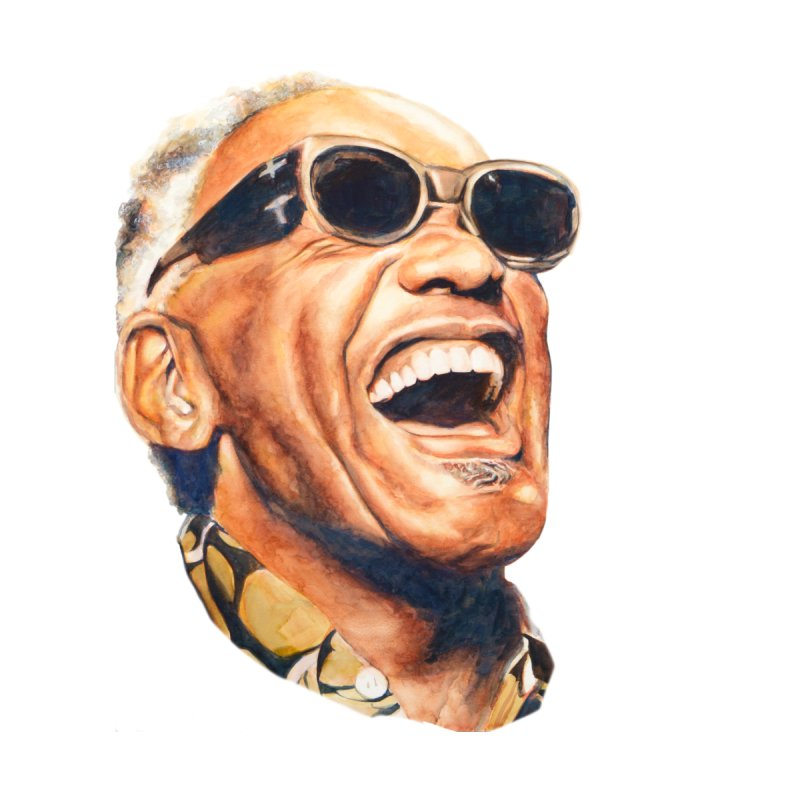 Ray Charles Women's Longsleeve T-Shirt by Afro Triangle's