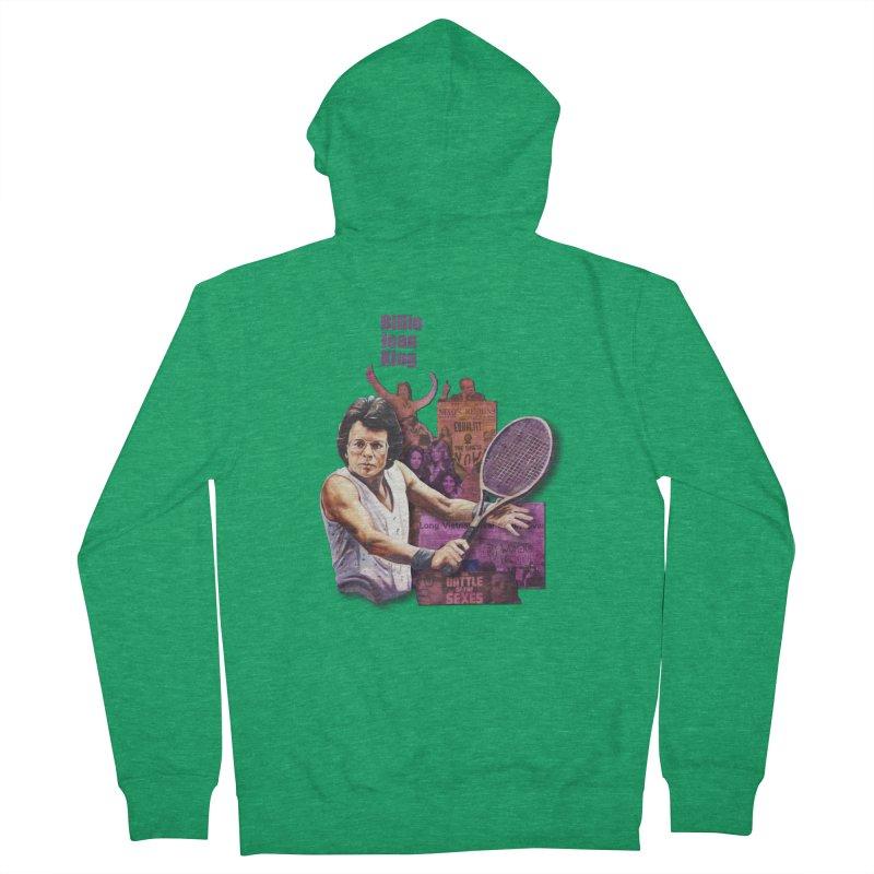 Billie Jean King Men's Zip-Up Hoody by Afro Triangle's