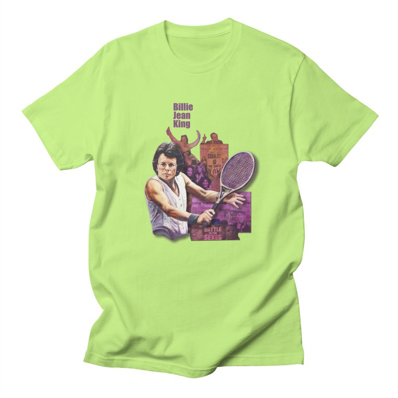 Billie Jean King Men's T-Shirt by Afro Triangle's
