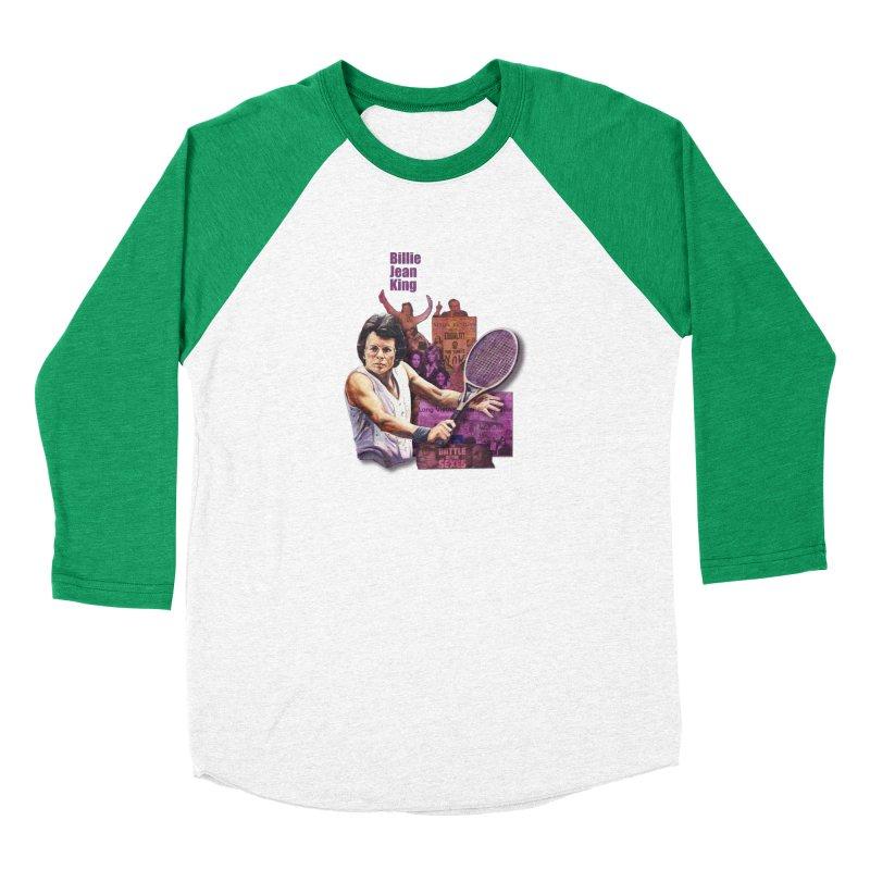 Billie Jean King Women's Baseball Triblend Longsleeve T-Shirt by Afro Triangle's