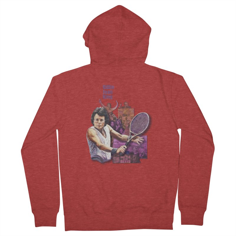 Billie Jean King Women's French Terry Zip-Up Hoody by Afro Triangle's
