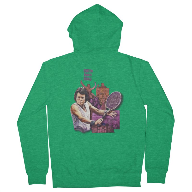 Billie Jean King Men's Zip-Up Hoody by Afro Triangle's