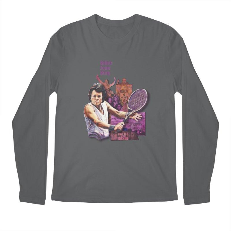 Billie Jean King Men's Longsleeve T-Shirt by Afro Triangle's