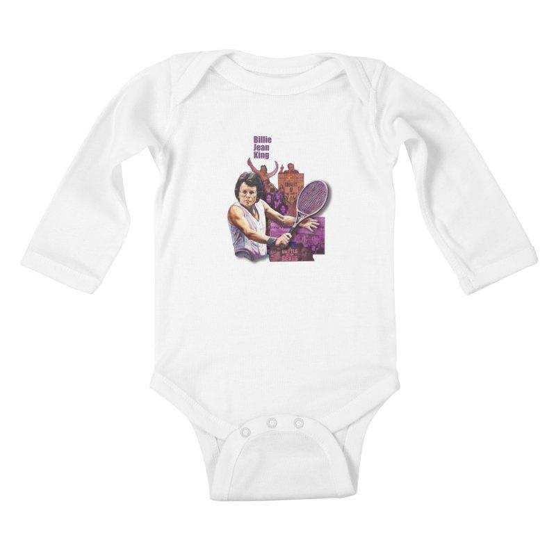 Billie Jean King Kids Baby Longsleeve Bodysuit by Afro Triangle's