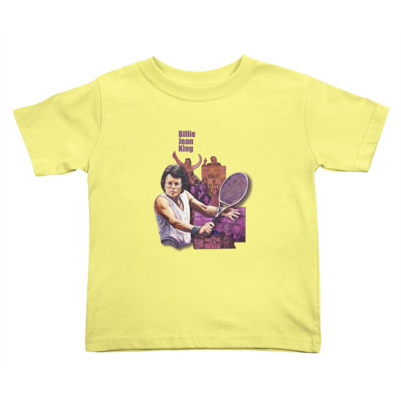 Billie Jean King Kids Toddler T-Shirt by Afro Triangle's