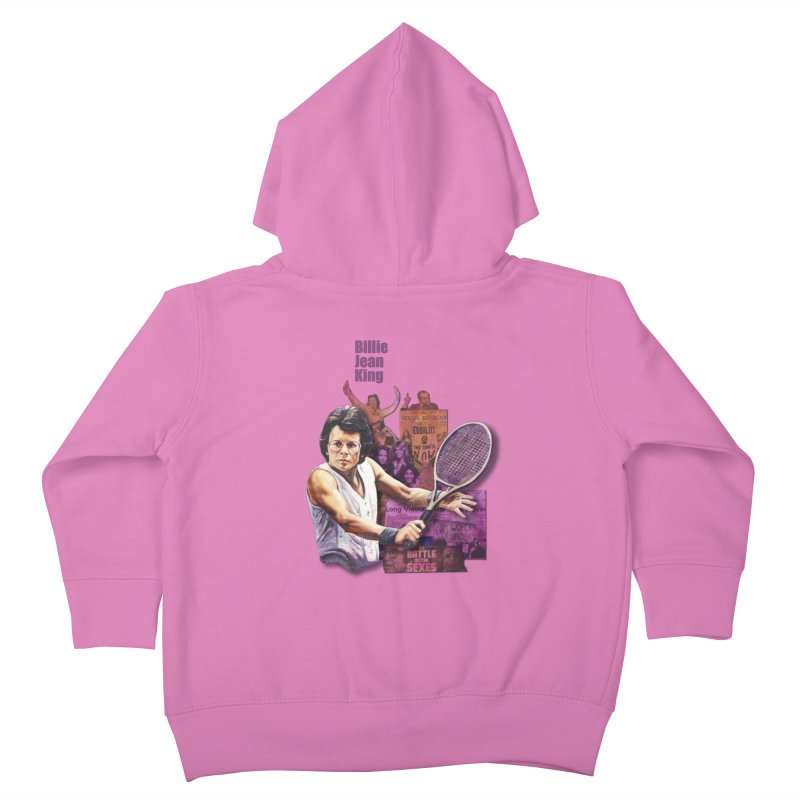 Billie Jean King Kids Toddler Zip-Up Hoody by Afro Triangle's