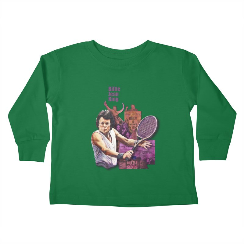 Billie Jean King Kids Toddler Longsleeve T-Shirt by Afro Triangle's