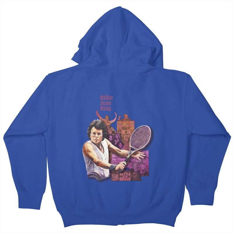 Billie Jean King Kids Zip-Up Hoody by Afro Triangle's