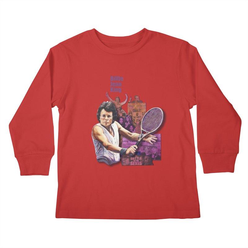Billie Jean King Kids Longsleeve T-Shirt by Afro Triangle's