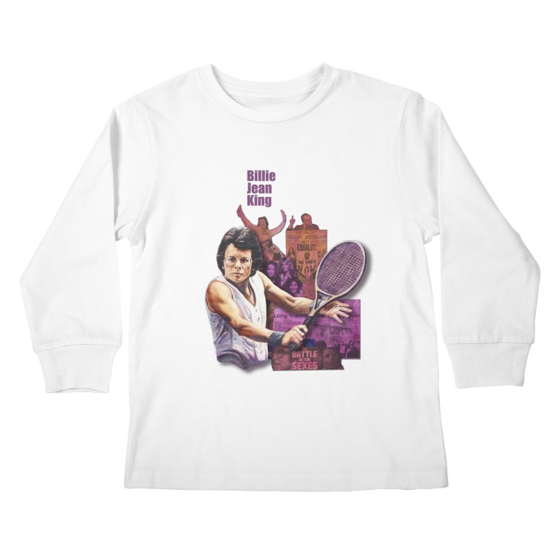 Billie Jean King Kids Longsleeve T-Shirt by Afro Triangle's
