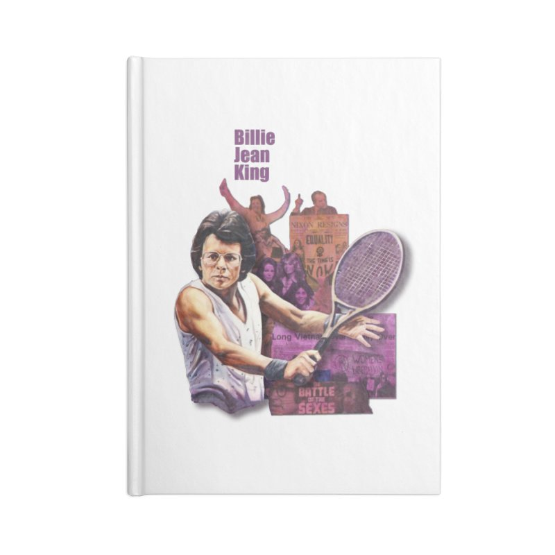 Billie Jean King Accessories Notebook by Afro Triangle's