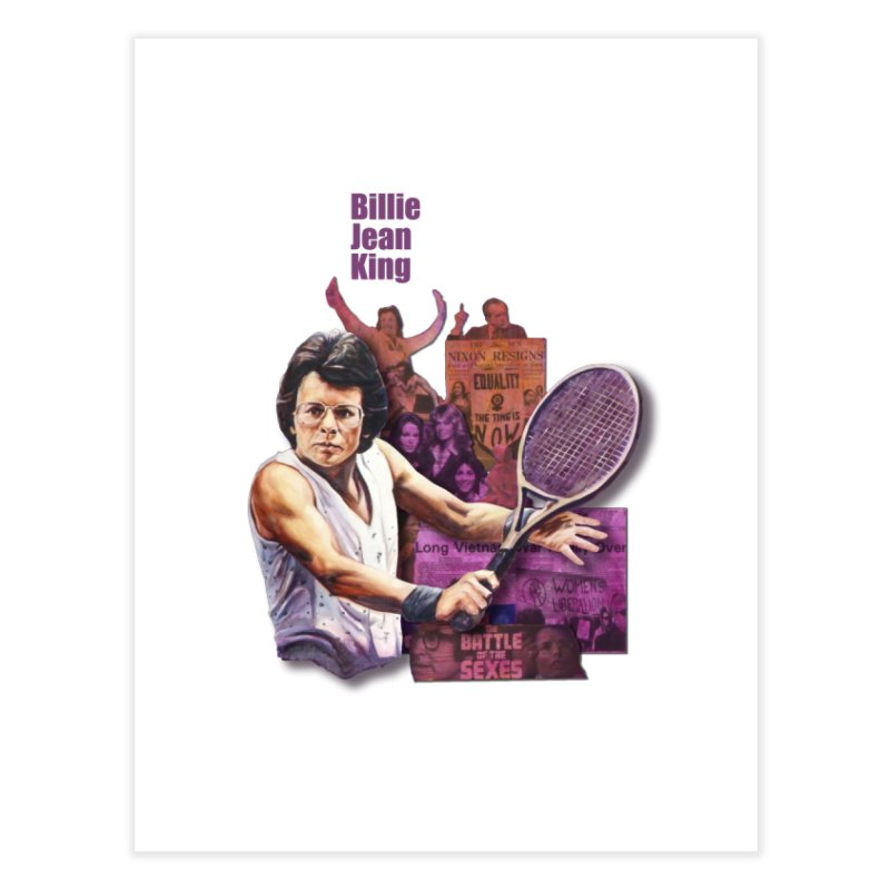 Billie Jean King Home Fine Art Print by Afro Triangle's