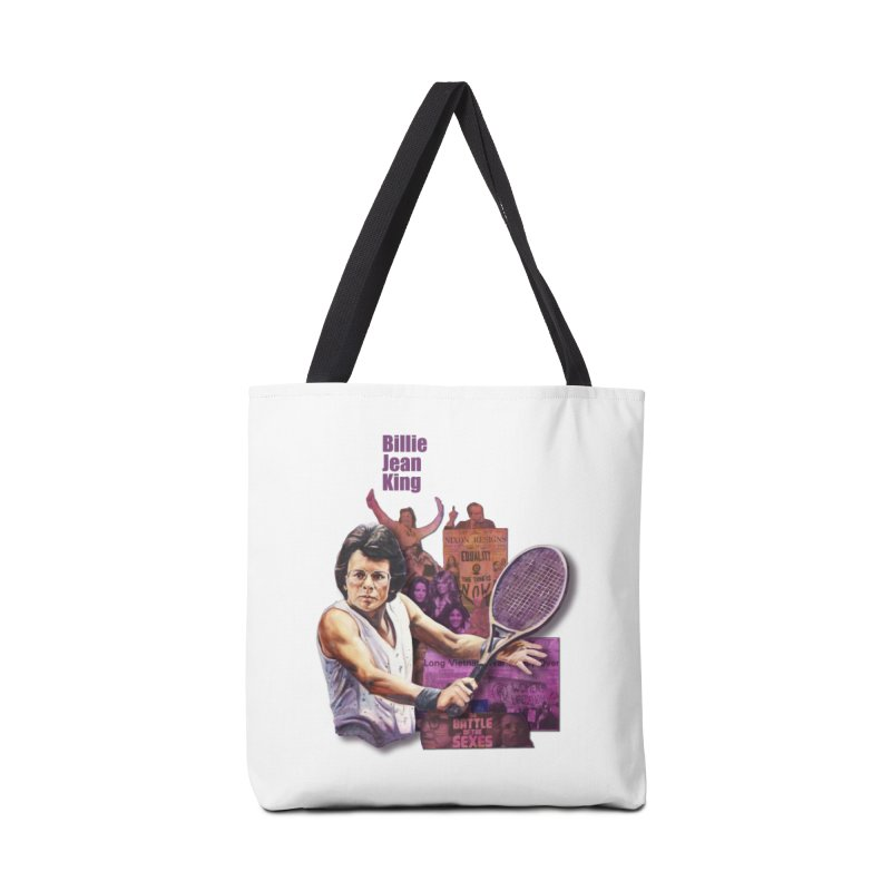 Billie Jean King Accessories Tote Bag Bag by Afro Triangle's