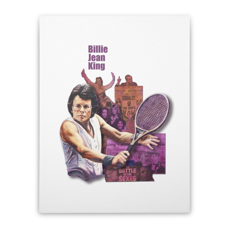 Billie Jean King Home Stretched Canvas by Afro Triangle's