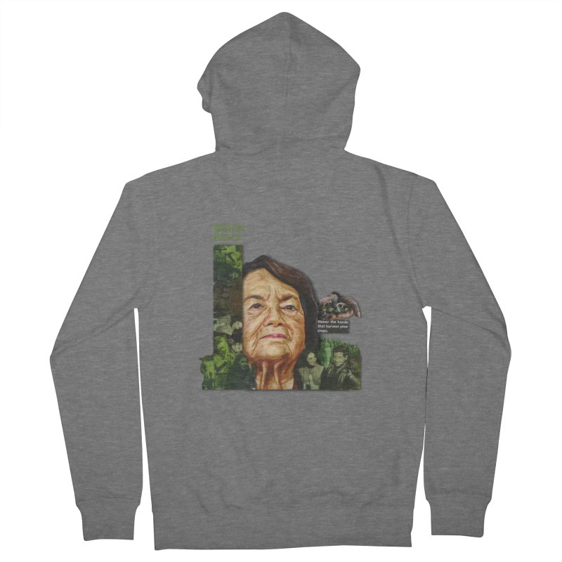 Dolores Huerta Women's French Terry Zip-Up Hoody by Afro Triangle's