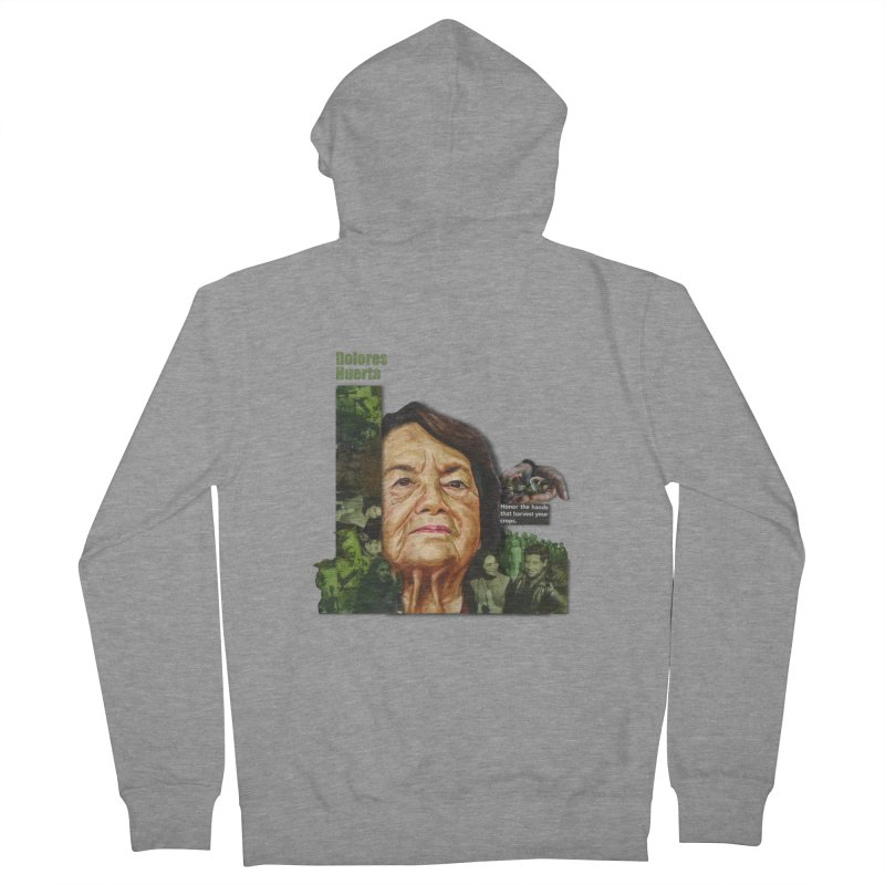 Dolores Huerta Men's Zip-Up Hoody by Afro Triangle's