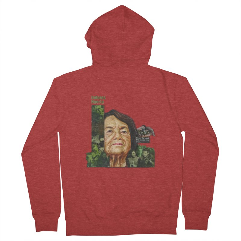 Dolores Huerta Men's French Terry Zip-Up Hoody by Afro Triangle's