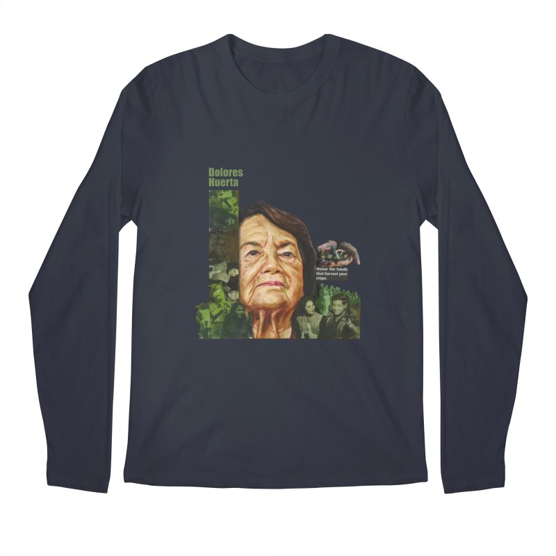 Dolores Huerta Men's Longsleeve T-Shirt by Afro Triangle's
