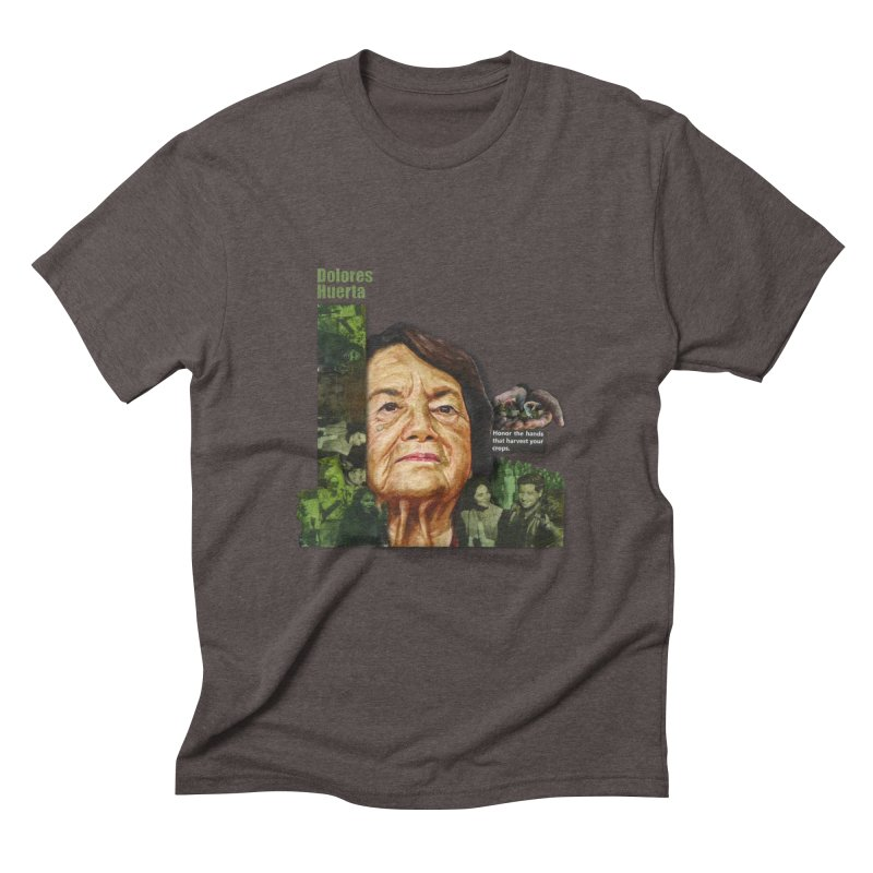 Dolores Huerta Men's Triblend T-shirt by Afro Triangle's