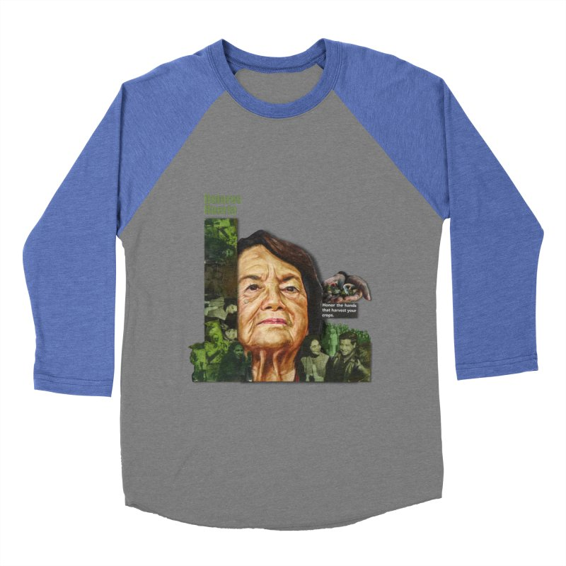 Dolores Huerta Women's Baseball Triblend T-Shirt by Afro Triangle's