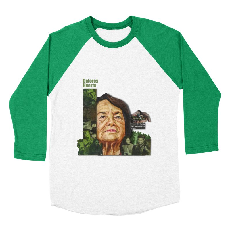 Dolores Huerta Men's Baseball Triblend T-Shirt by Afro Triangle's