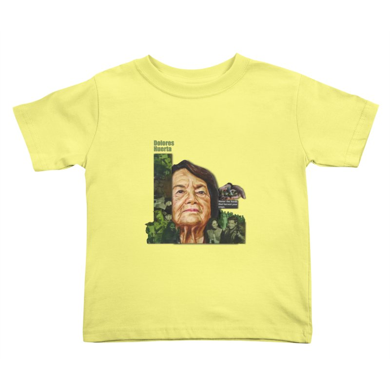 Dolores Huerta Kids Toddler T-Shirt by Afro Triangle's