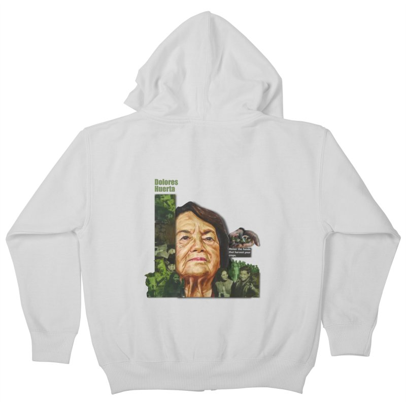 Dolores Huerta Kids Zip-Up Hoody by Afro Triangle's