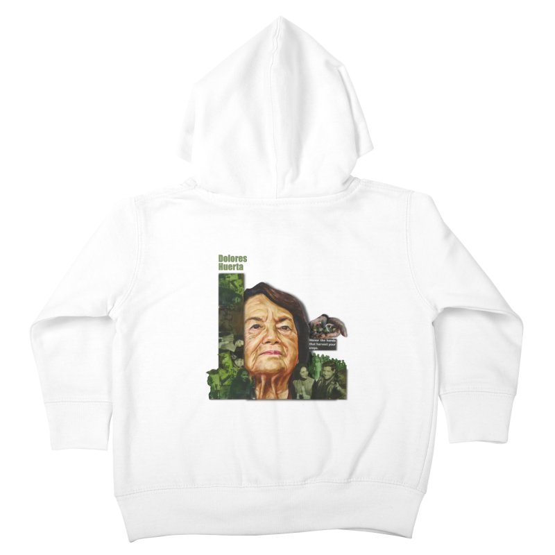 Dolores Huerta Kids Toddler Zip-Up Hoody by Afro Triangle's